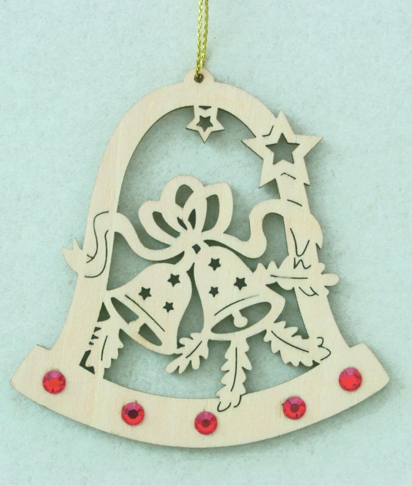 Swarovski Christmas Tree Decoration Set : Bell with bells and swarovski crystall dolfi
