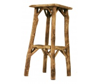Bar stool in the roots of forest