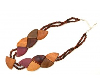 Hand carved wood Necklace