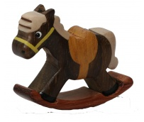 The Miniature wooden Rocking Horse