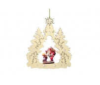 Christmas decoration with Santa Claus