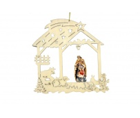 Christmas decoration with Holy Family 17006