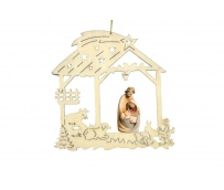 Christmas decoration with Holy Family 17021