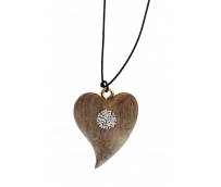 Necklage with heart and Swarovski crystals