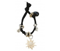 Black bracelet with swarovski