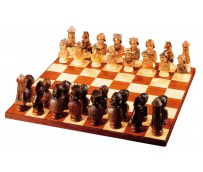 Farmers Bust Chess Set