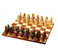Warriors-Bust Chess Set