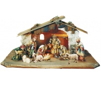 Nativity 13 Pcs. with Stable