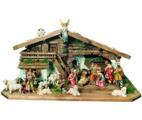 Nativity Set 14 Pcs. with Stable