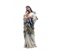 Mary with child and sheep