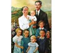Servants of God and Jozef Ulma Wiktoria with six children