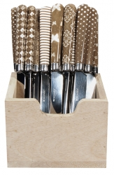 Messer Set 27 Stk Braun