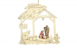 Christmas decoration with Holy Family 16805