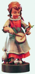 Girl with small drum