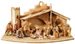 Entire Nativity Set 20 Pcs. with stable