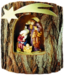 Holy Family in a Tree-Trunk