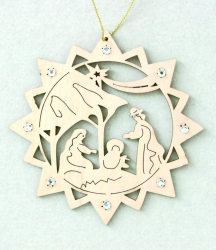 Star with Holy Family and Swarovski crystall